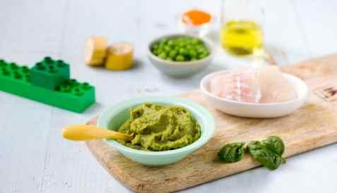 Barnas grønne fiskegryte med torsk oppskrift.