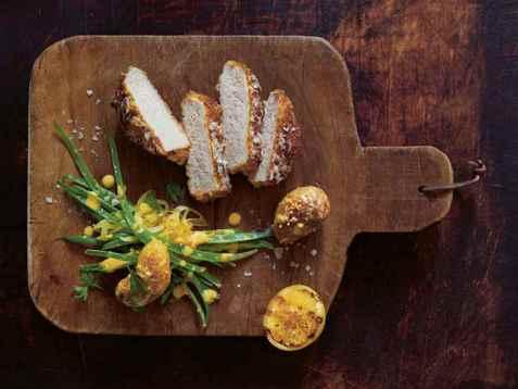 Parmesan crusted ytrefilet av svin oppskrift.