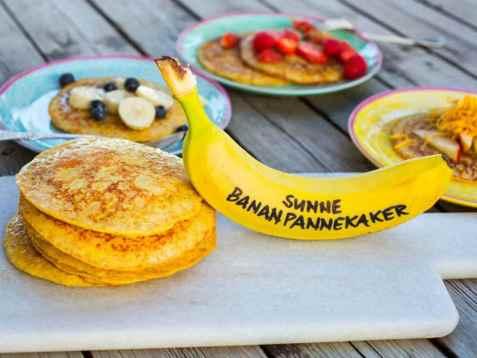 Grove bananpannekaker oppskrift.