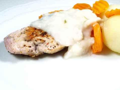 Kylling med purresaus oppskrift.