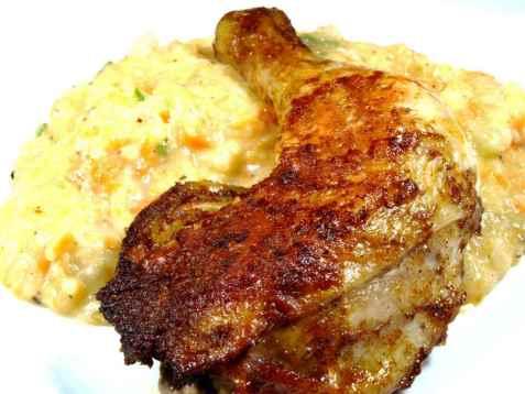 Rotmos med kylling oppskrift.