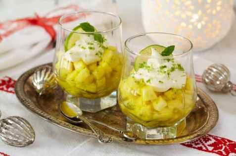 Limemarinert ananas oppskrift.