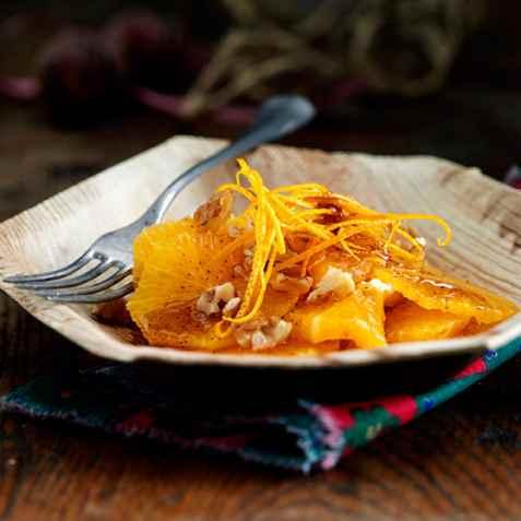 Appelsinsalat til jul oppskrift.