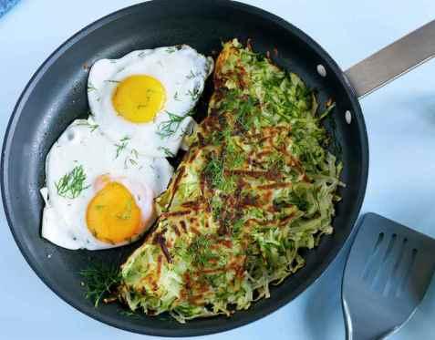 Rösti med squash og egg oppskrift.