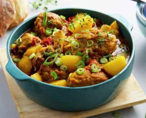 Currygryte med kje oppskrift.