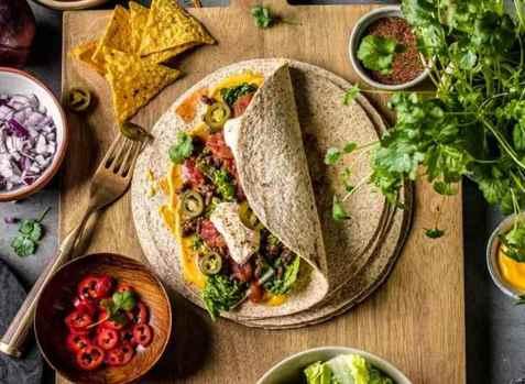 Burritos med kjøttdeig oppskrift.