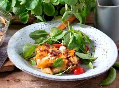 Bilde av Pastagrateng med kjøttdeig.