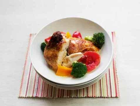 Kyllinggryte med fløte og grønnsaker oppskrift.