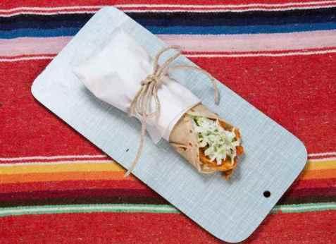 Chilimania kyllingwrap med isbergsalat og ris oppskrift.