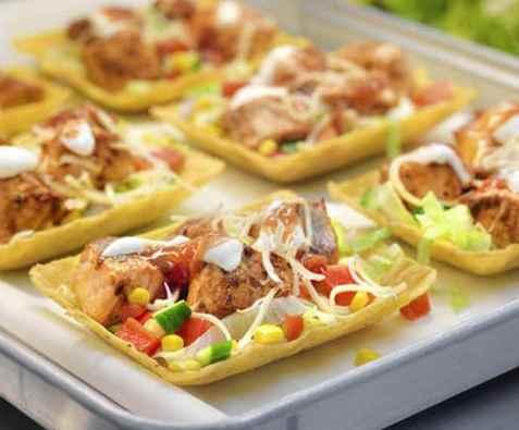 Taco med laks oppskrift.