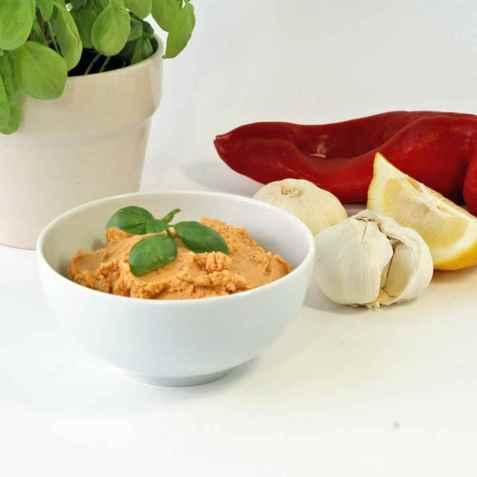 Hummus med Sesam-mel oppskrift.