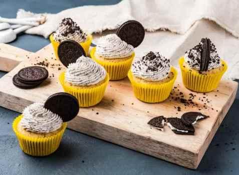 Oreo-cupcakes oppskrift.