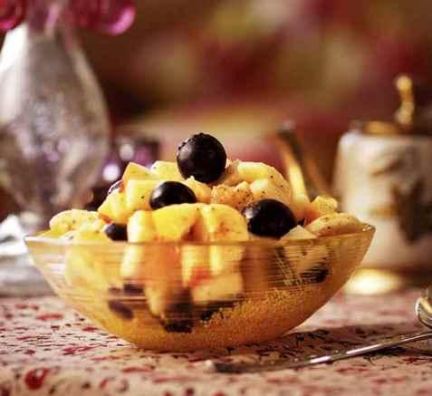Frukt chaat oppskrift.