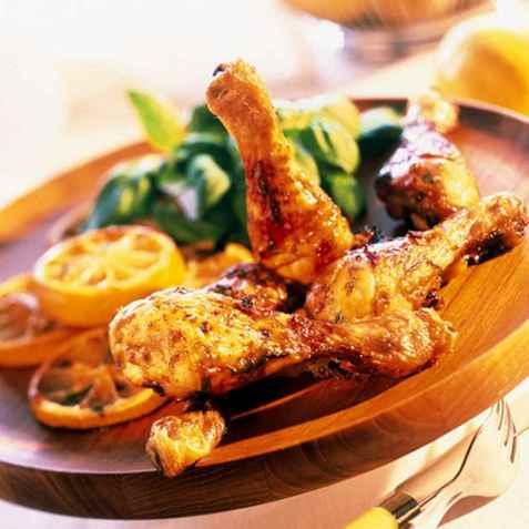 Sitronmarinerte kyllinglår oppskrift.