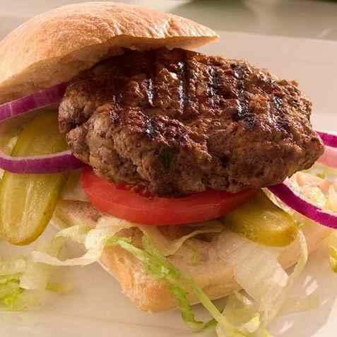 Bøffelburger oppskrift.