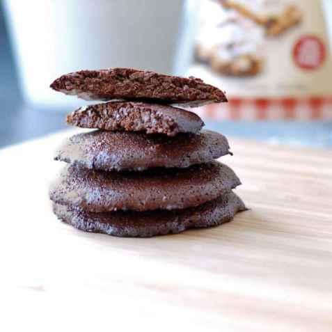 Proteinrike sjokoladekjeks oppskrift.