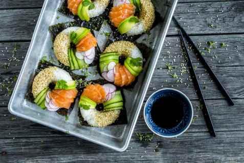 Dagens oppskrift er Sushi doughnut.