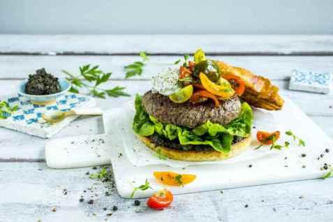 Bilde av Gresk burger.