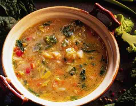 Jevnet suppe med grønnsaker oppskrift.