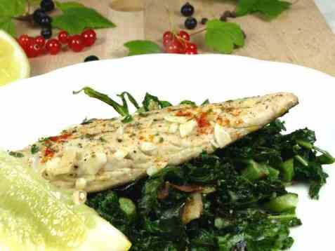 Makrell med sitron og hvitløk oppskrift.