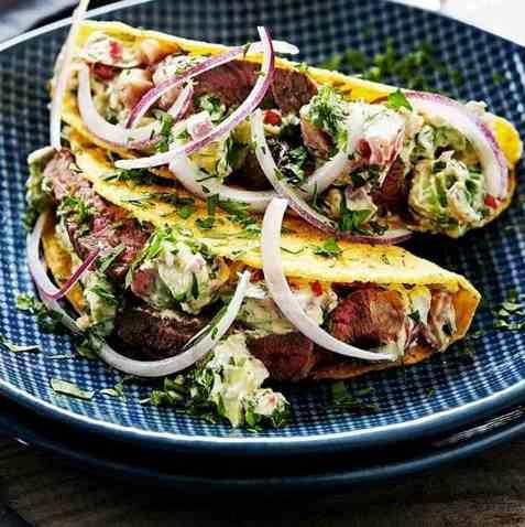Dagens oppskrift er Taco med kremostsalsa.