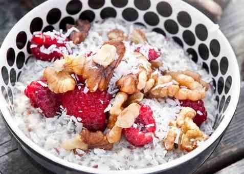 Chiapudding med vanilje og appelsin oppskrift.