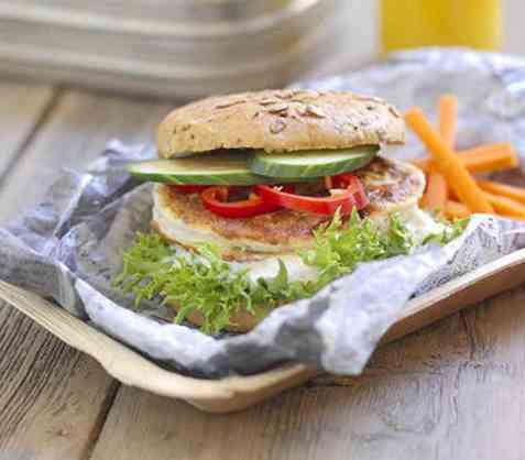 Sandwich med fiskekake oppskrift.