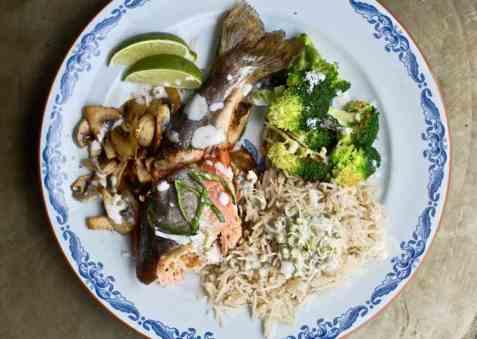 Dagens oppskrift er Masalafylt ishavsrøye // Masala stuffed fish.