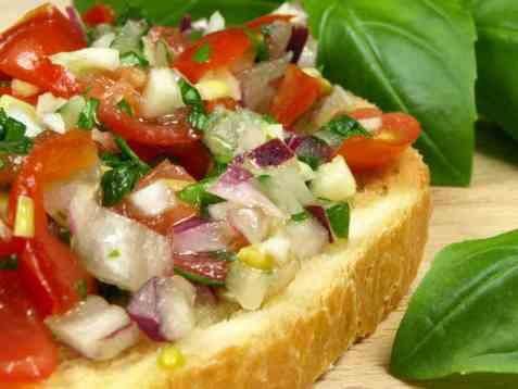 Dagens oppskrift er Original bruschetta med tomatsalat.