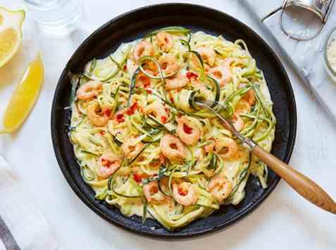 Lune reker med spaghetti av squash oppskrift.