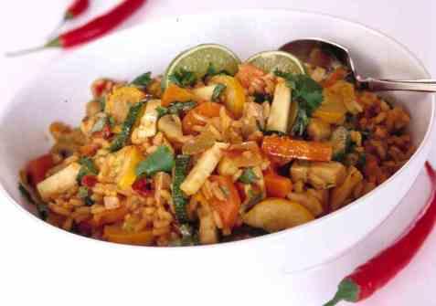 Grønnsakrisotto med sopp oppskrift.