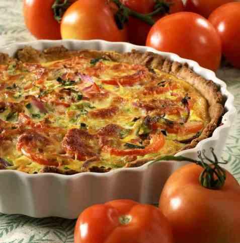 Dagens oppskrift er Tomat- og løkpai 2.