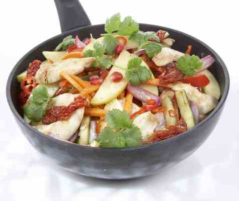 Epler i wok oppskrift.
