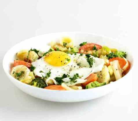 Grønnsakpytt med poteter oppskrift.
