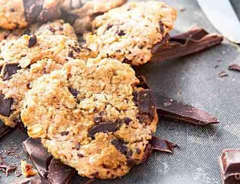 Dagens oppskrift er Chocolate Chip Cookies med peanøttsmør.
