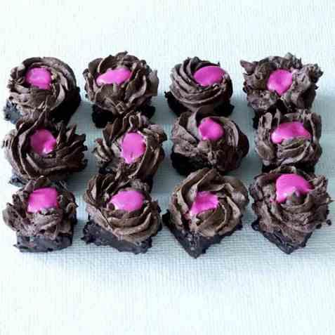 Sjokoladetrøffelkaker ny oppskrift.