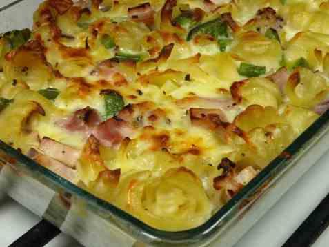 Makaroni og ost i stekeovnen oppskrift.