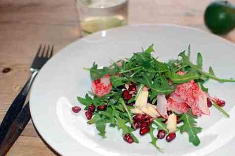 LobNobs salat med granateple oppskrift.