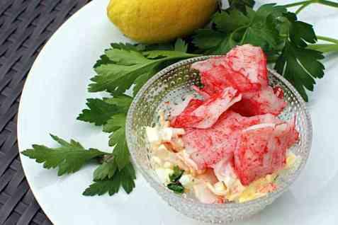 LobNobs-salat med egg og fersk koriander oppskrift.