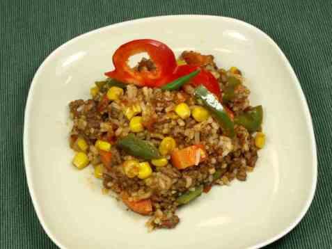 Dagens oppskrift er Hverdagspanne med kjøttdeig og ris.