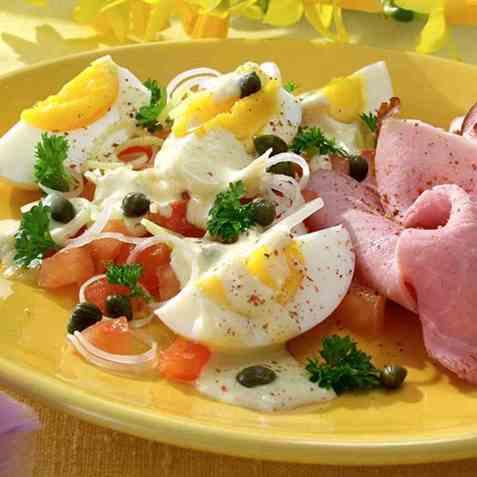 Eggesalat til påske oppskrift.