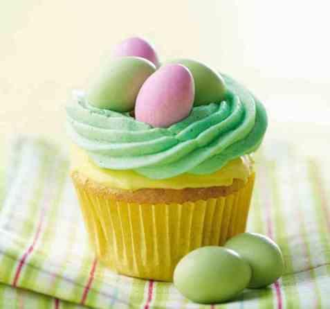 Cupcakes til påske oppskrift.