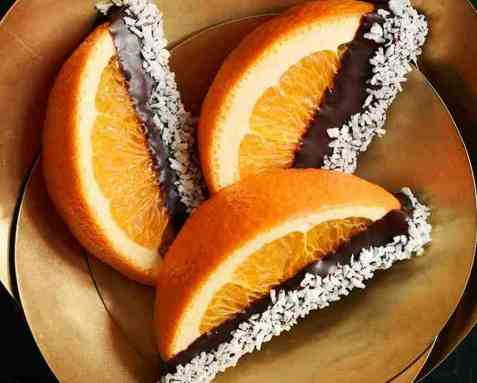 Appelsinbåter dyppet i sjokolade oppskrift.