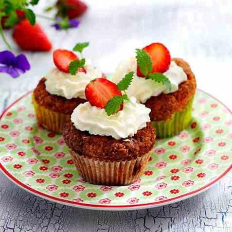Jordbærmuffins 2 oppskrift.