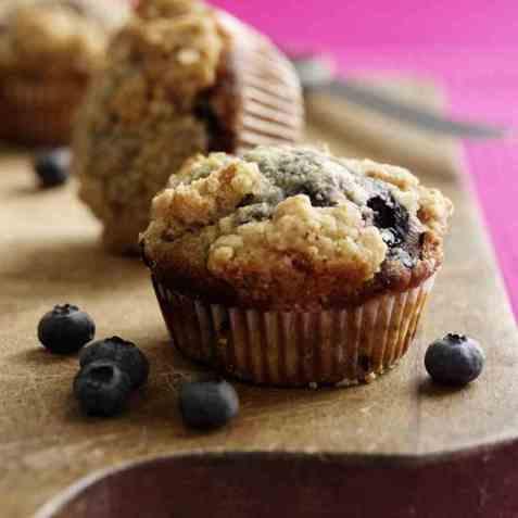 Muffins med smuler oppskrift.