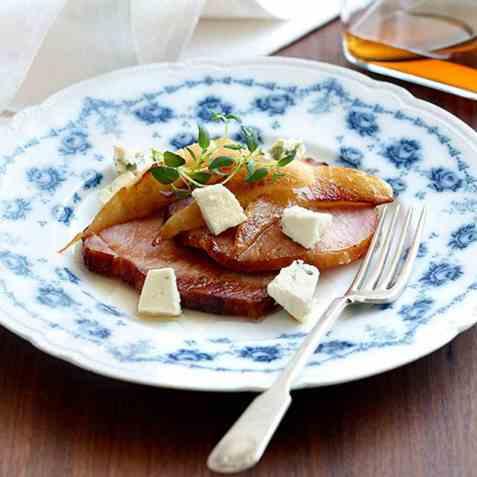 Pære- og ostesalat oppskrift.