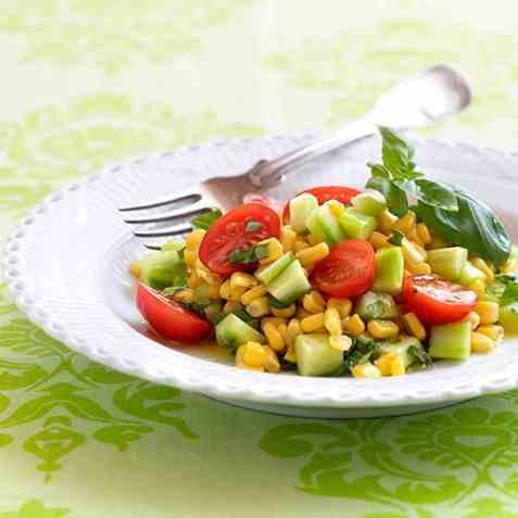 Tomatsalat med mais oppskrift.