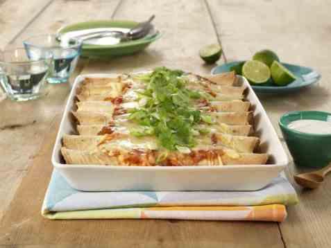 Enchiladas med kylling oppskrift.