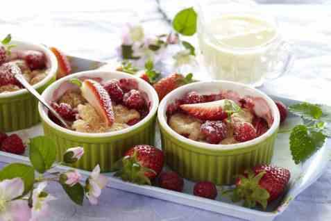 Kokospai med bær oppskrift.