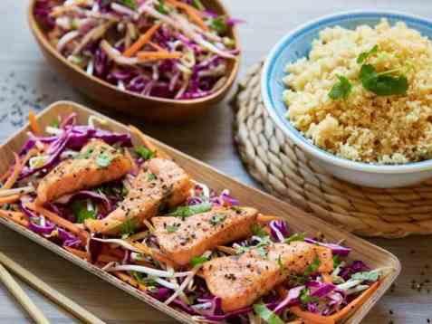 Ørret med thaisalat og fullkornscouscous oppskrift.